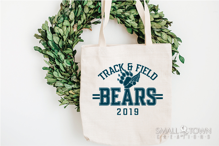 Bears Track and Field, Bear mascot, logo, PRINT, CUT, DESIGN example image 4