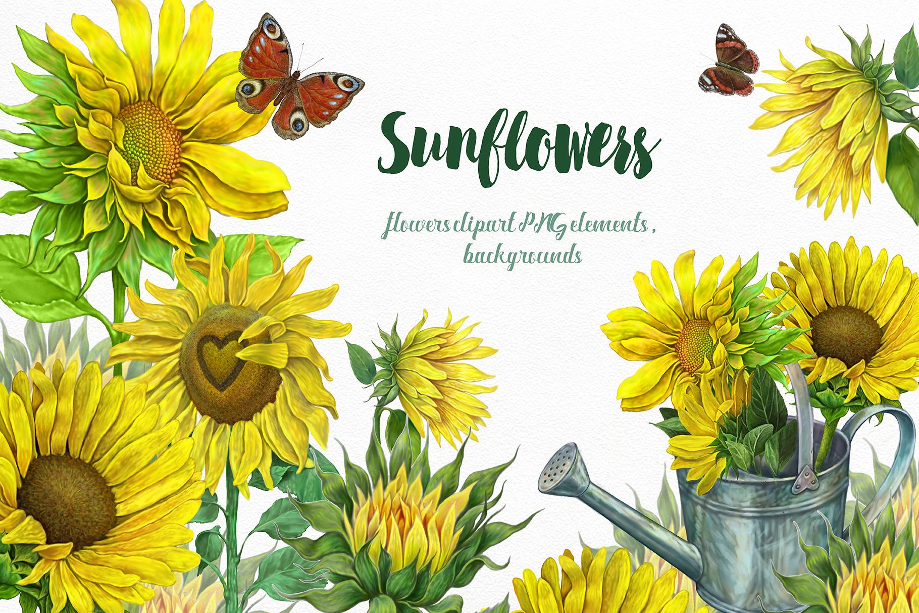 Sunflowers Clipart, Yellow flowers sunflower, (261042 ...