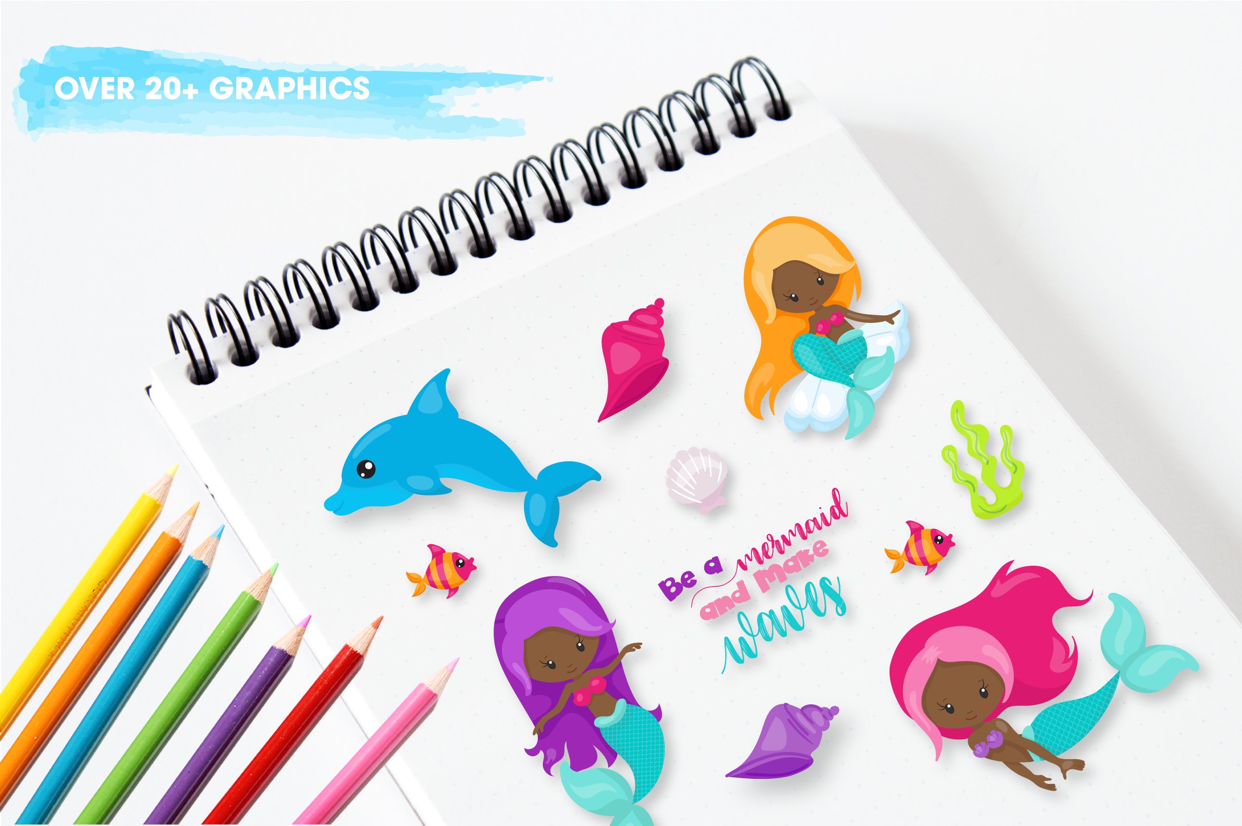 mermaid vibes graphics and illustrations example image 3
