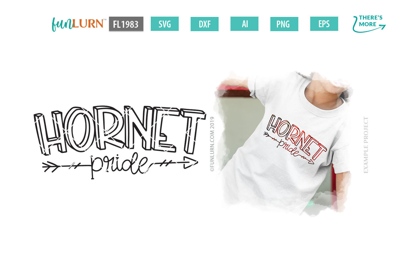 Hornet Pride Team SVG Cut File example image 1