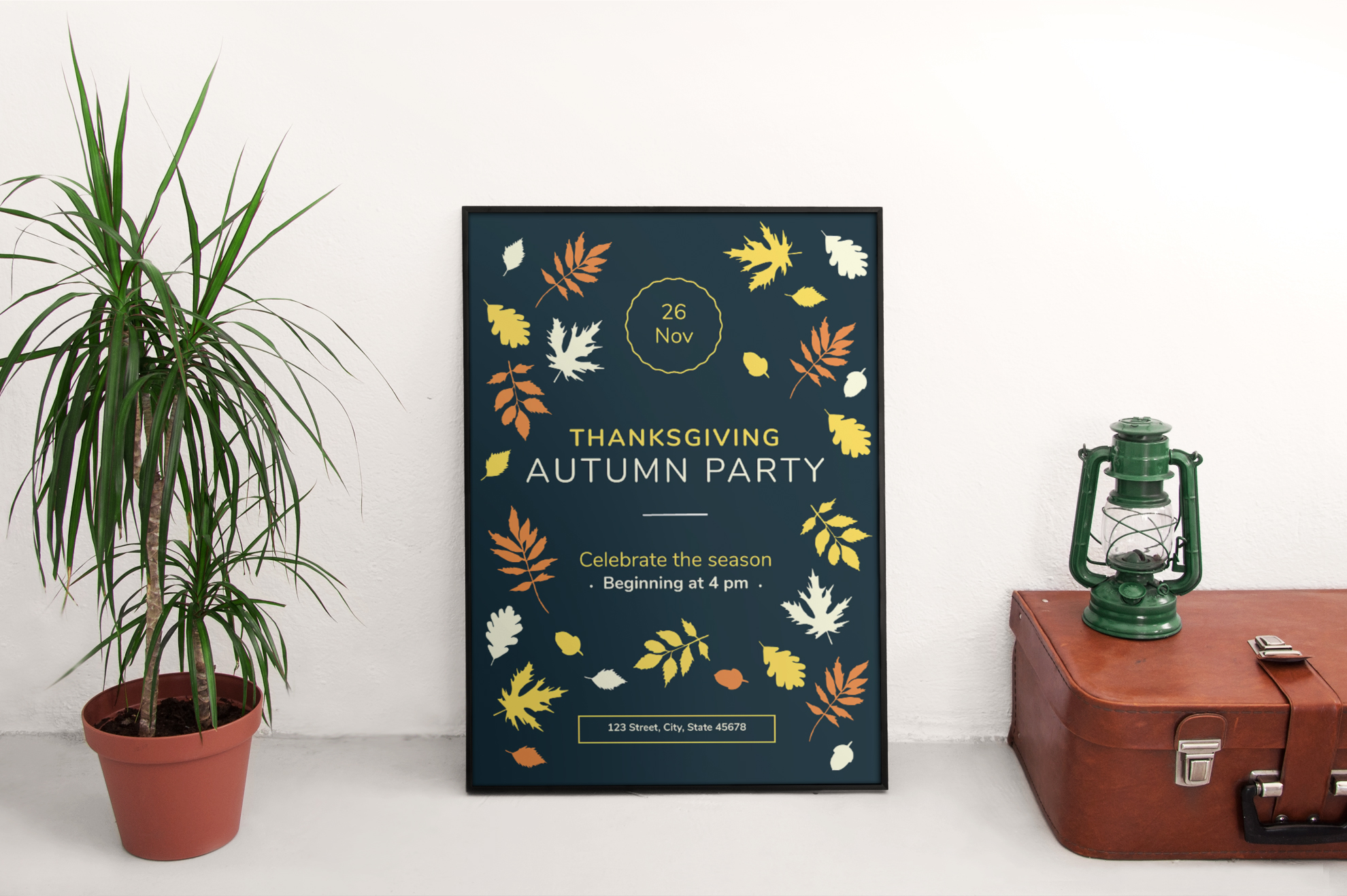 Thanksgiving Autumn Party Design Templates Bundle example image 4