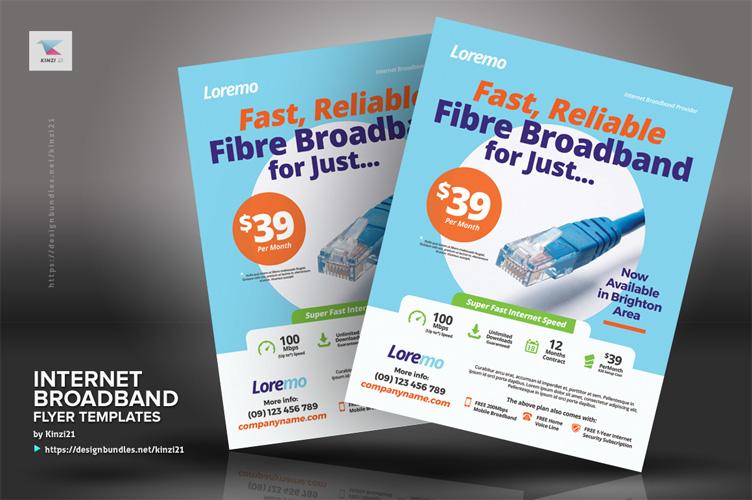 Internet Broadband Flyer Templates example image 3