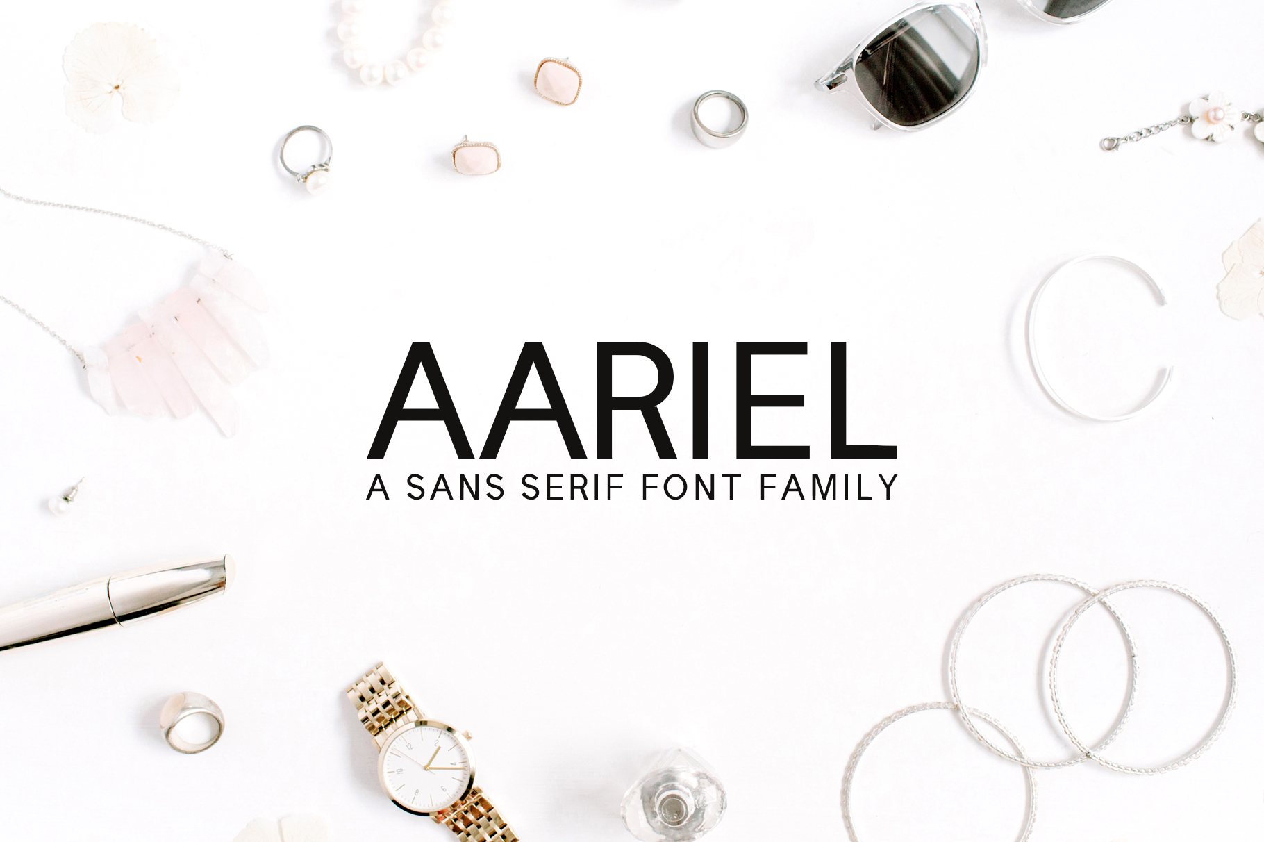 Aariel Sans Serif 7 Font Family Pack example image 1