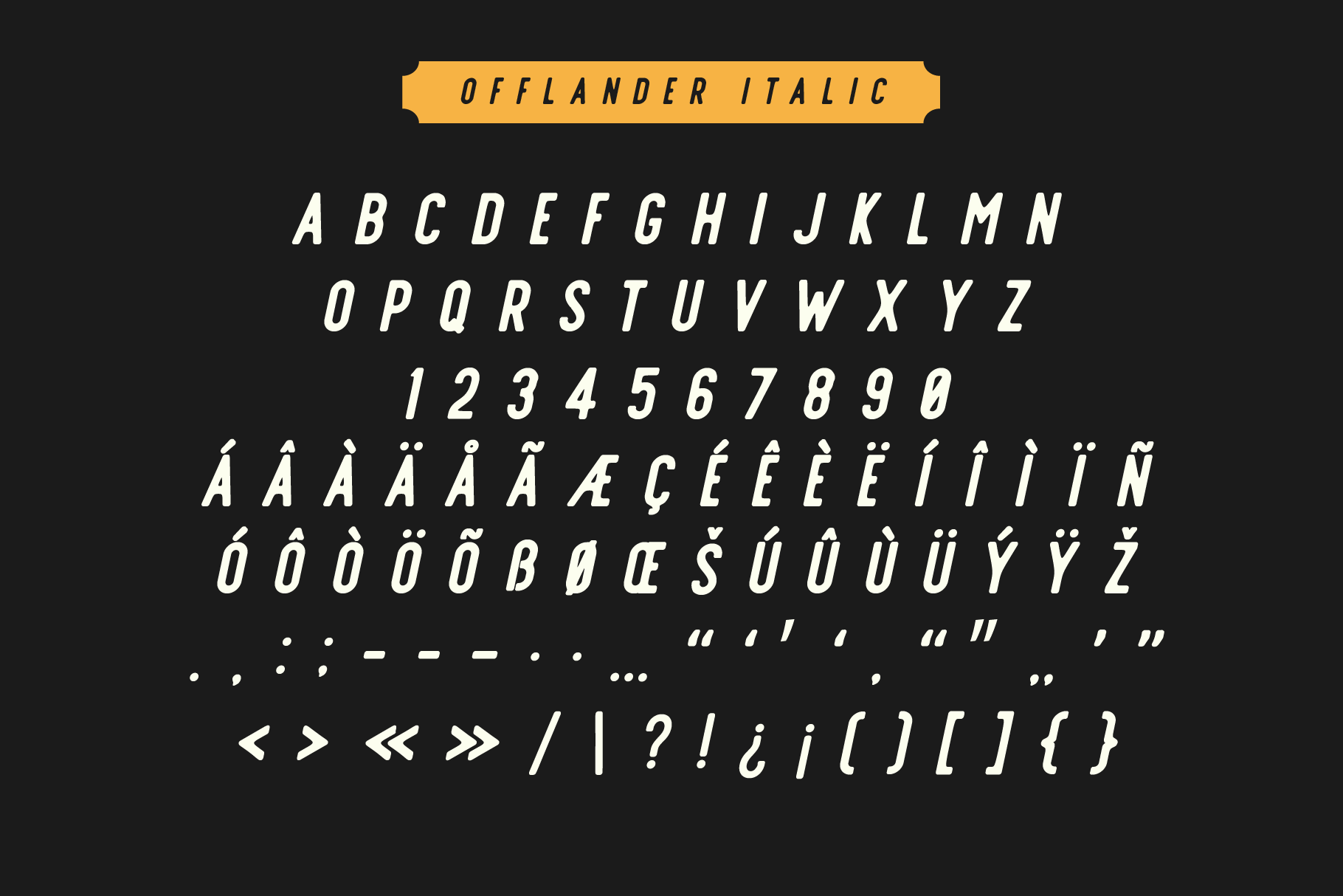 Offlander - Font Family example image 6