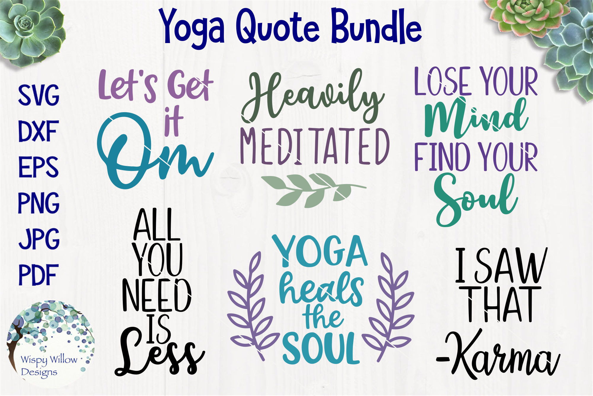 Yoga Quote Bundle example image 1
