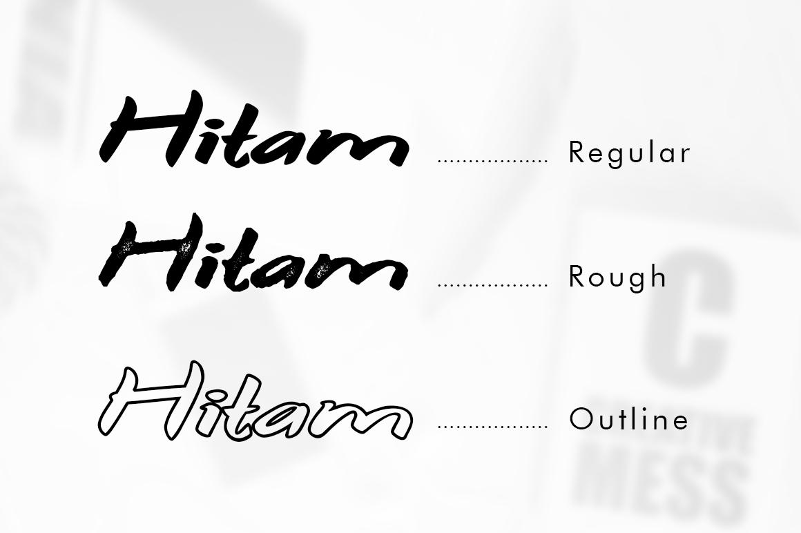 Hitam Bold 3 Font example image 5
