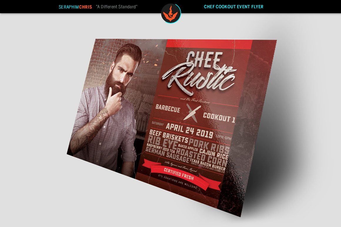 Chef Cookout Flyer Template example image 2