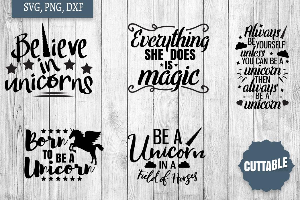 Unicorn cut file Bundle, Unicorn quote SVGs, Magical SVGs example image 3