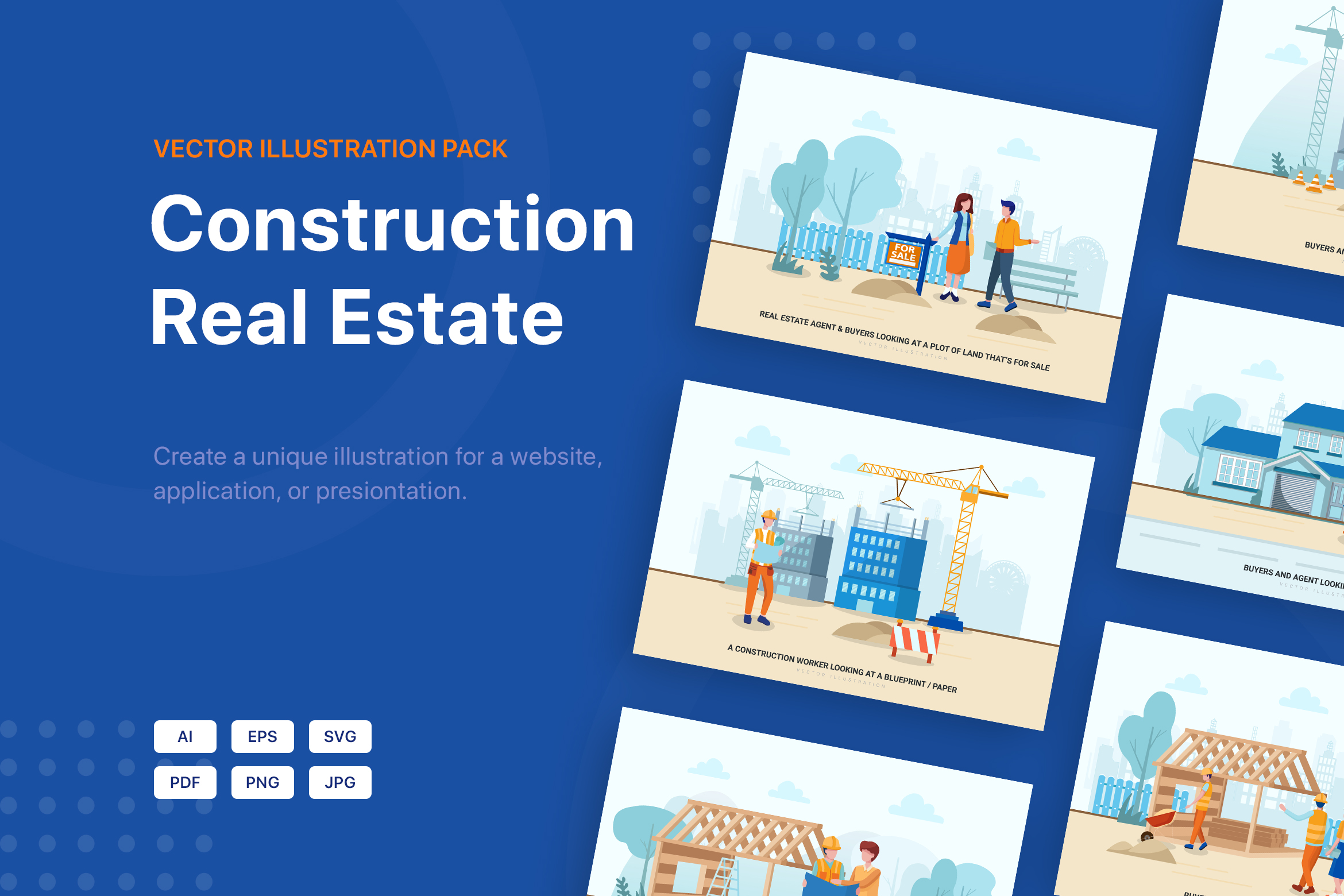 Construction & Real Estate Vector Illustration - Part 30 example image 1