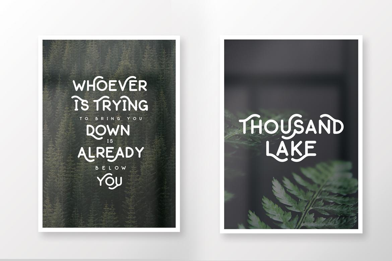 Thousand Lake - Handmade Font example image 13