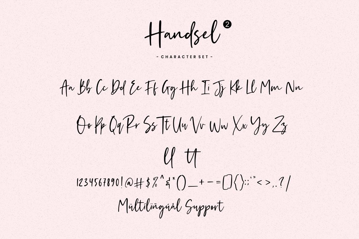 Handsel - Handwritten Font example image 12