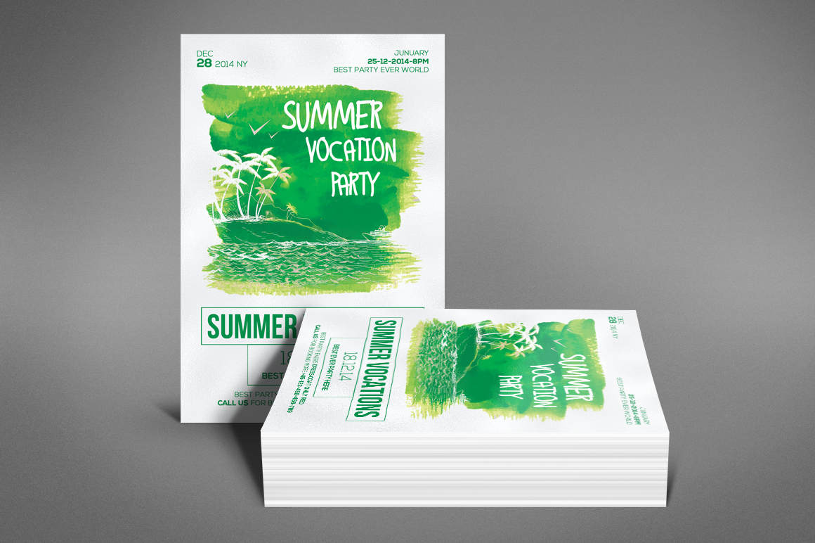 Summer Vocation Party Flyer example image 4