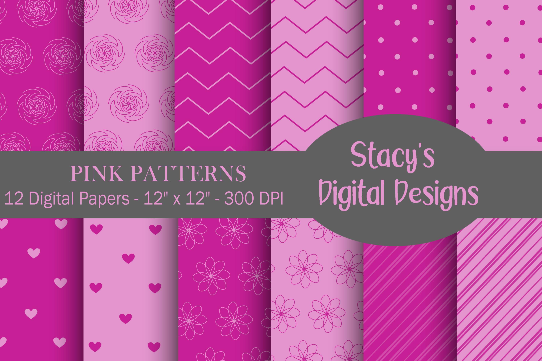 Digital Paper Bundle - 72 Digital Papers, patterns example image 4