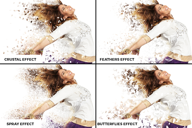Splatter Dispersion Photoshop Action example image 2