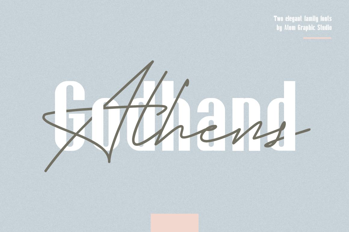 Godhand Athens | Elegant Font Duo example image 1