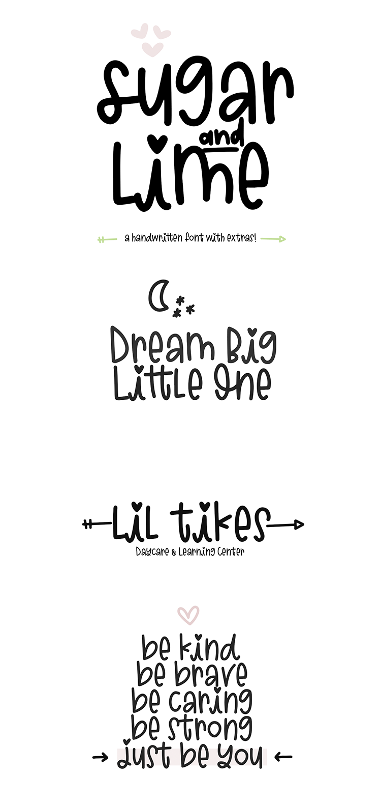 Sugar and Lime - A Fun Font with Doodles! example image 2