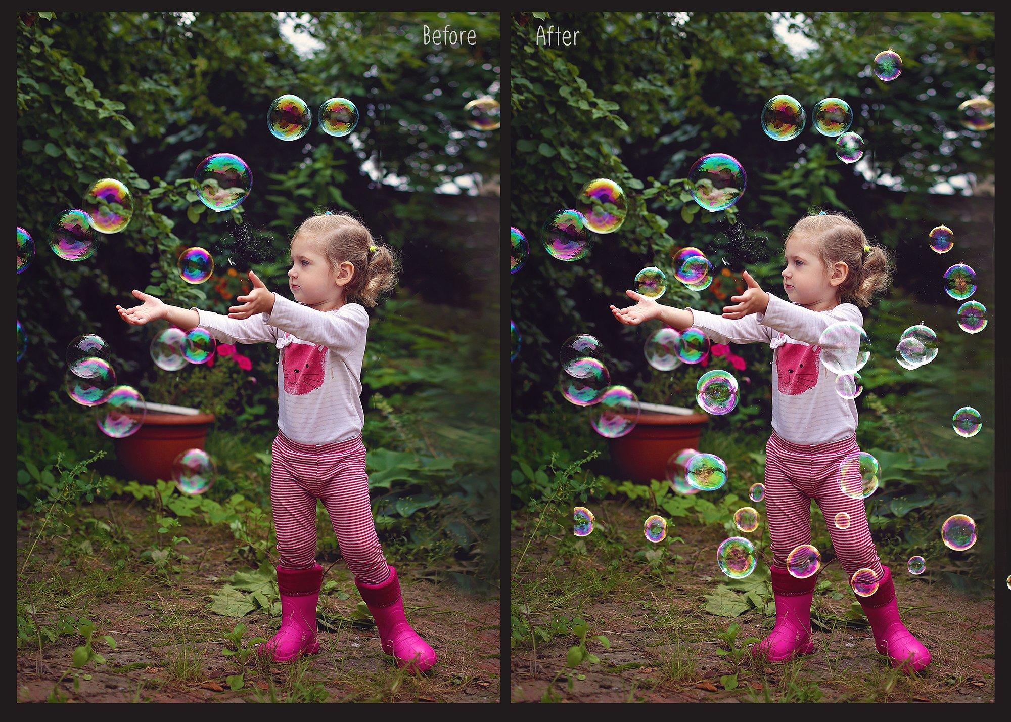 100 Bubbles Photoshop Overlays example image 5