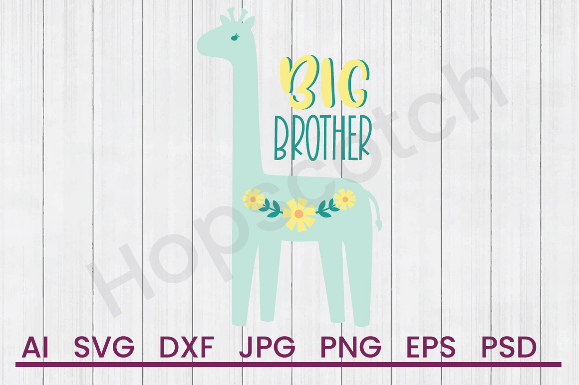 Giraffe SVG, Big Brother SVG, DXF File, Cuttatable File example image 1