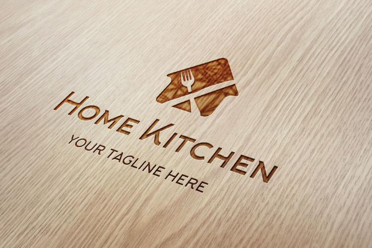 Fork & Knife cafe, Organic Food Restaurant Logo example image 2