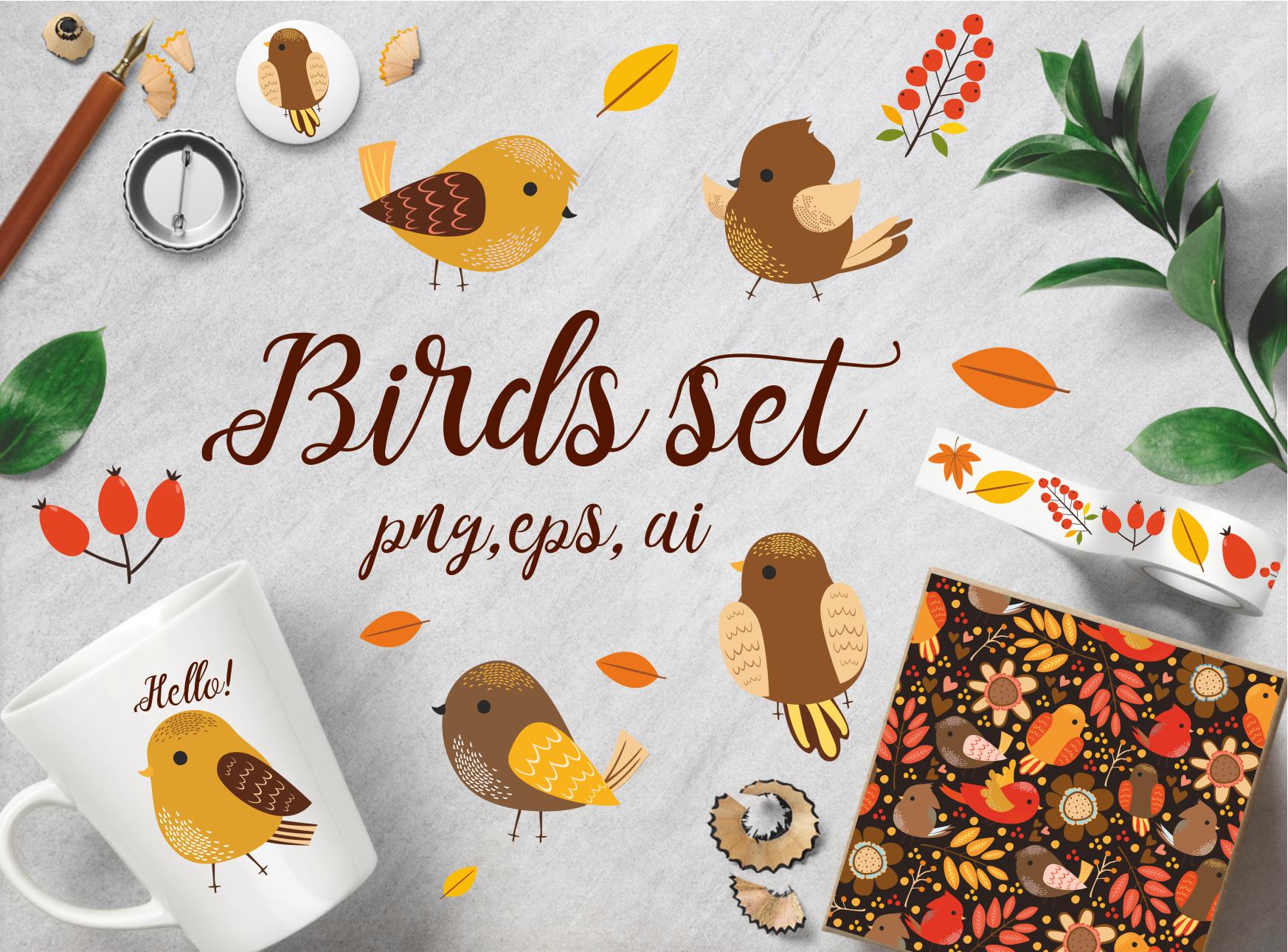 Birds set 2 (vector,jpg,png) example image 1