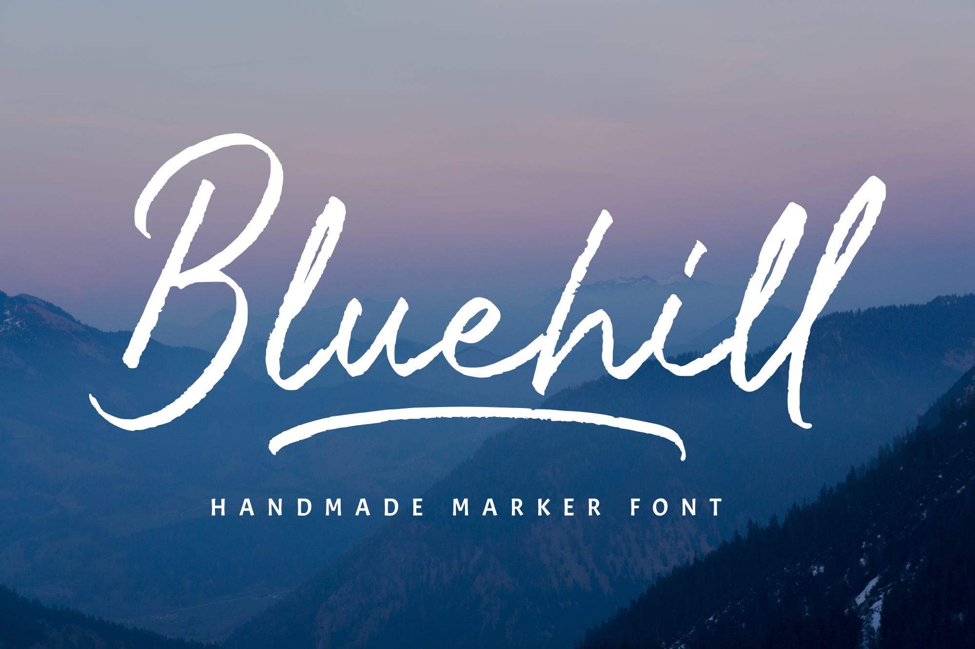 Bluehill - Marker Font example image 1