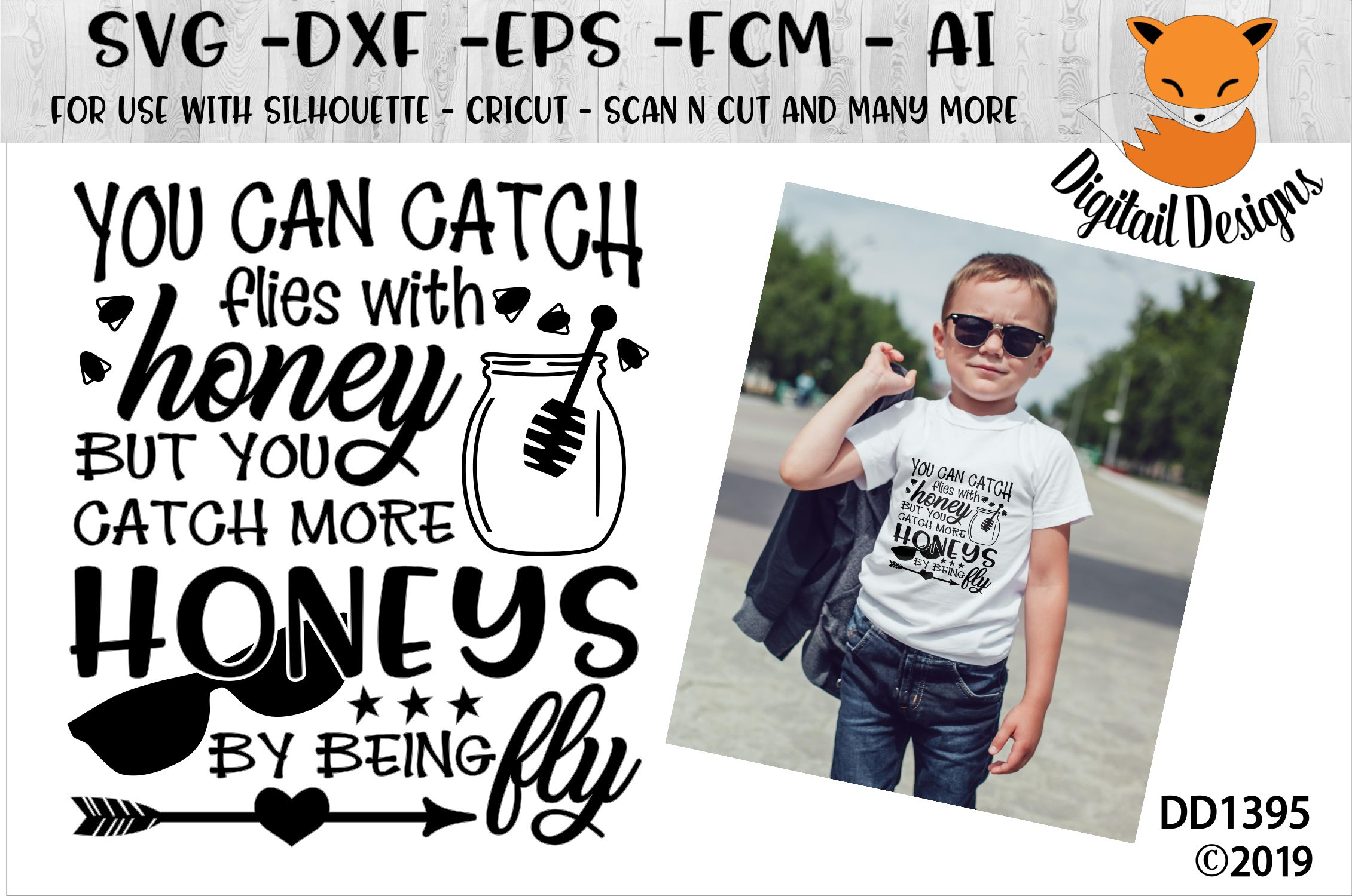 Catch Flies With Honey Boys SVG example image 1