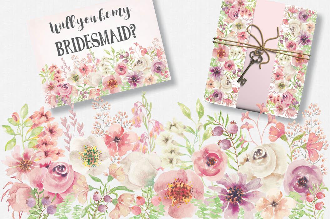 'Blushing Bride': wedding clip art set example image 4