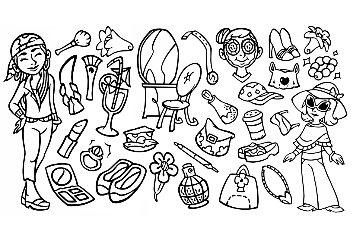 30 Beauty Stuffs - Doodle Clipart example image 1