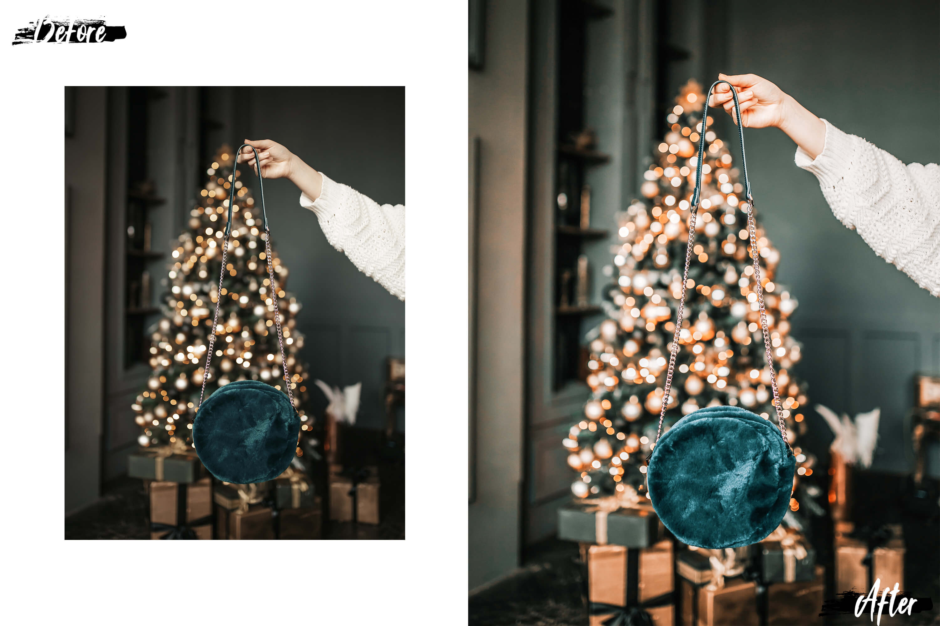 05 Christmas Eve Photoshop Actions, ACR and LUT presets example image 8