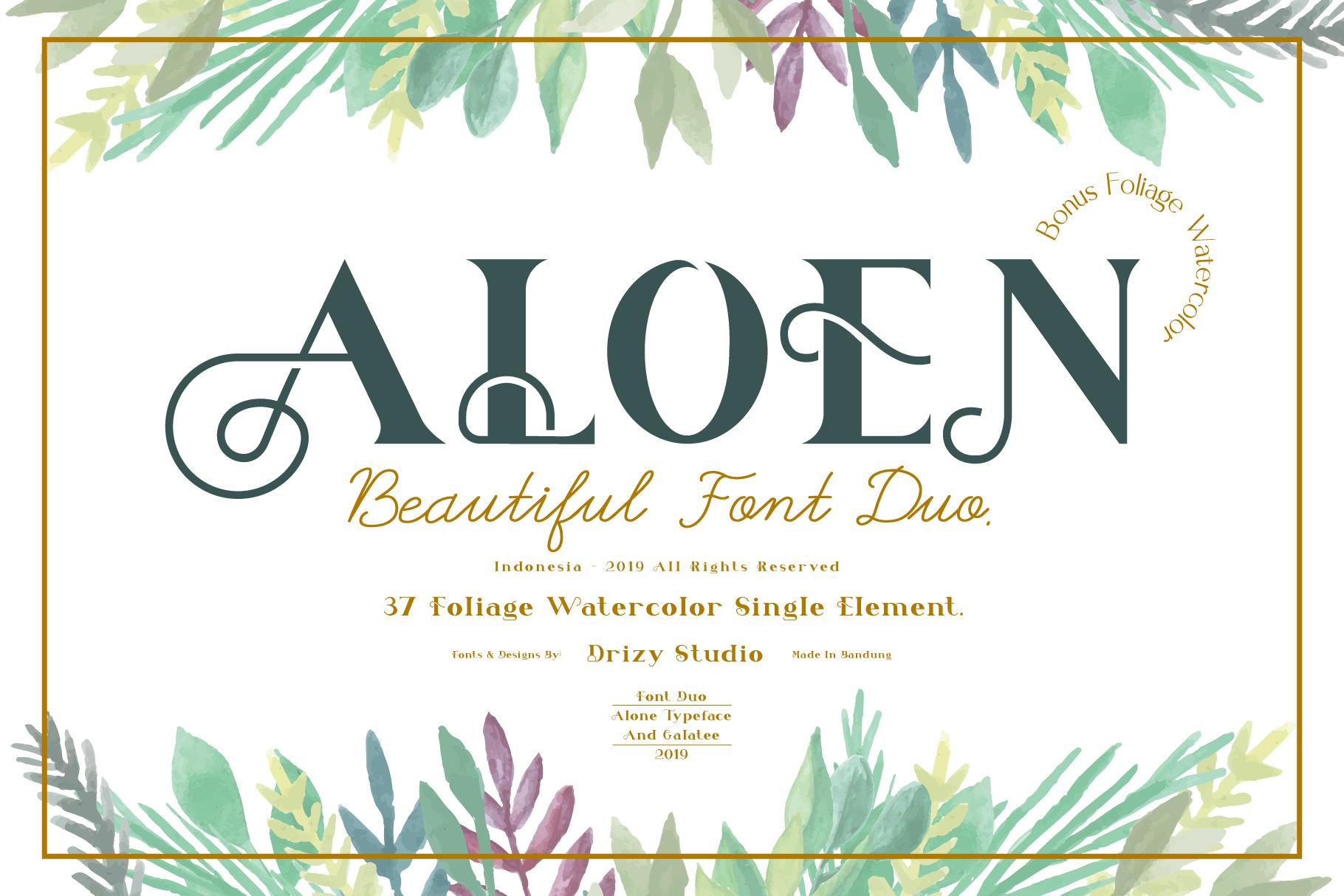 Aloen Font Duo & Extras example image 1