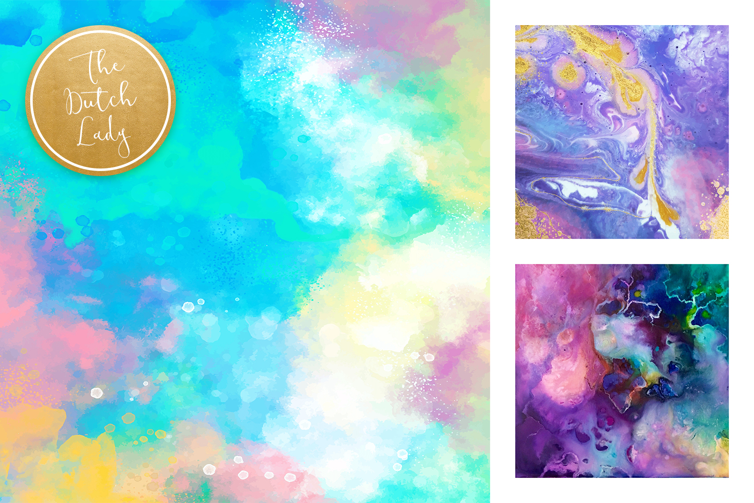 Colorful Brush Strokes & Stains Background Textures example image 4