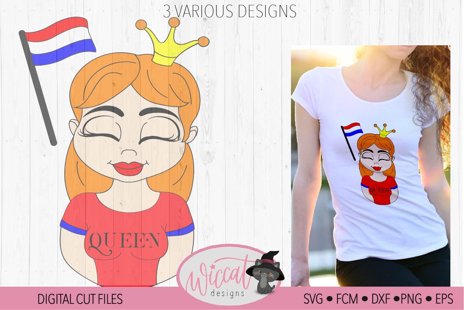 Girl queen cartoon, queen, Kingsday svg, example image 3