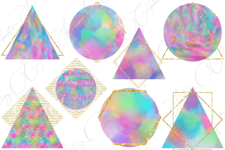 Unicorn Shapes Clipart example image 2
