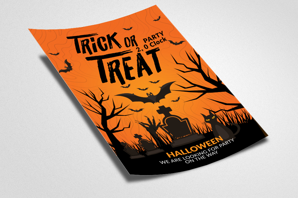 Halloween Trick or Treat Night Flyer example image 2