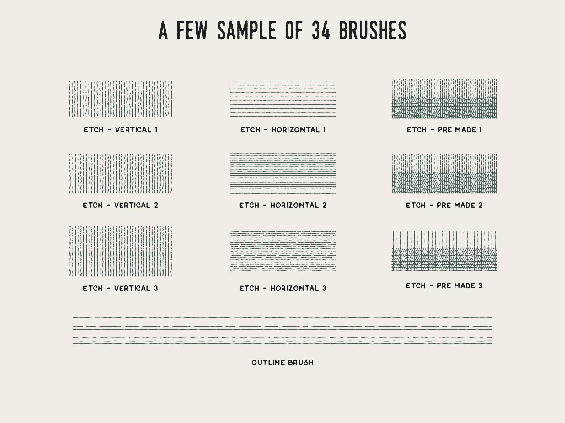 Modern Vintage Cross Hatch Brush example image 5