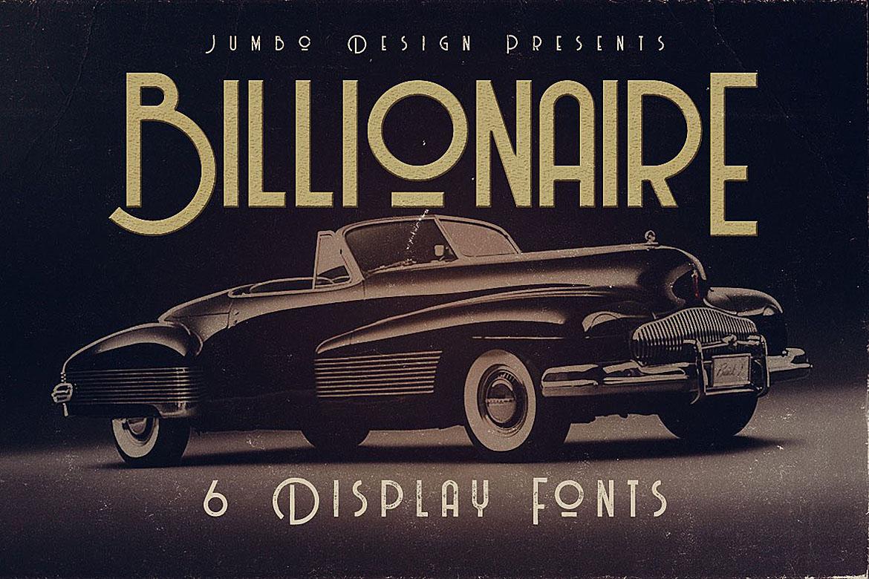 Billionaire - Display Font example image 1