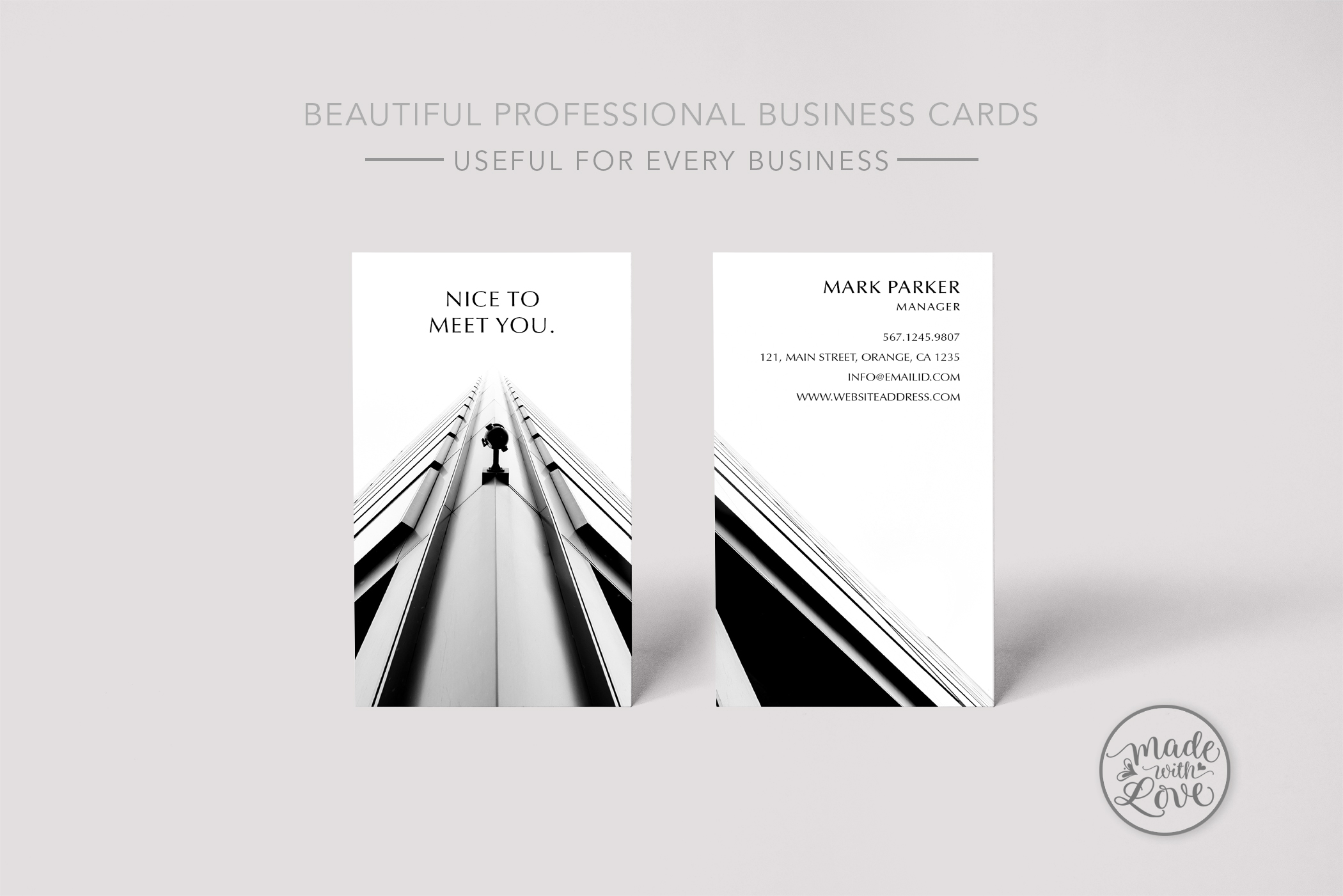 Beautiful Professional Business Card example image 1