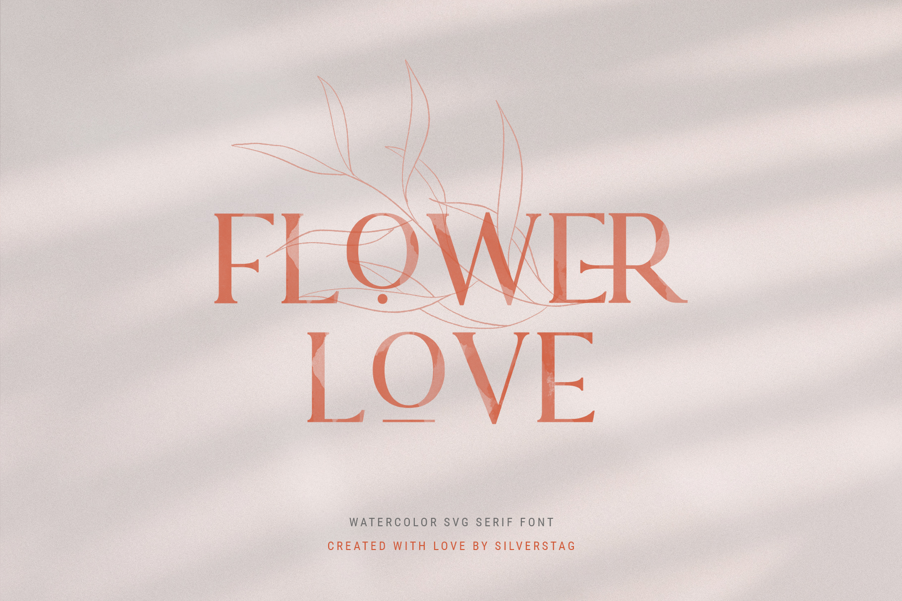 Lovers SVG Serif Watercolor Modern Font & Extras example image 10