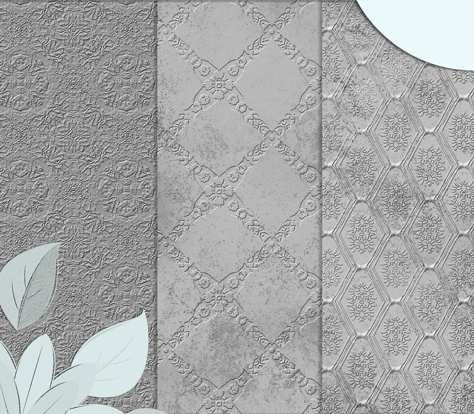 Royal Silver textures, digital Printable Scrapbook Paper example image 2