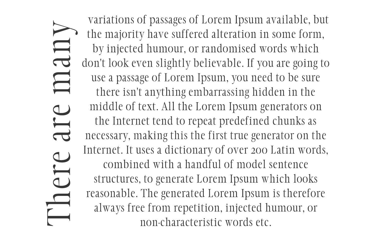 Glamour Luxury Serif Font Family example image 4