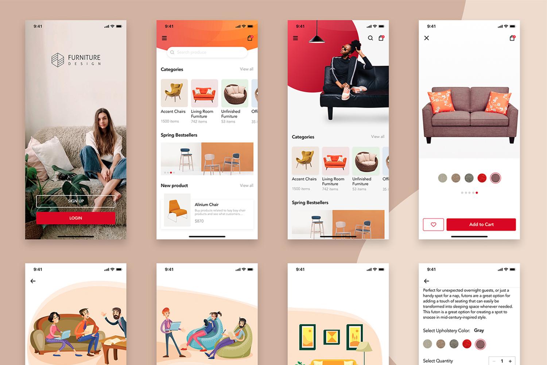 Furniture Design UI Kit example image 5