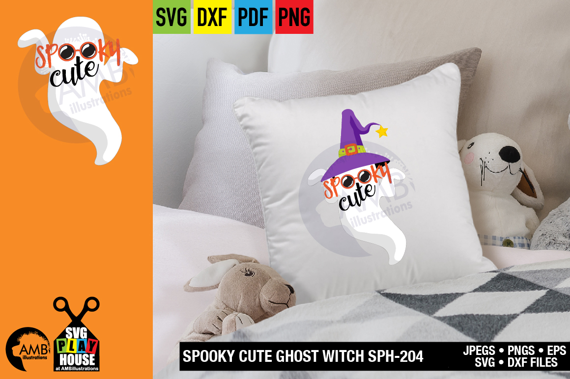 SPOOKY CUTE GHOST SVG SPH-204 example image 4