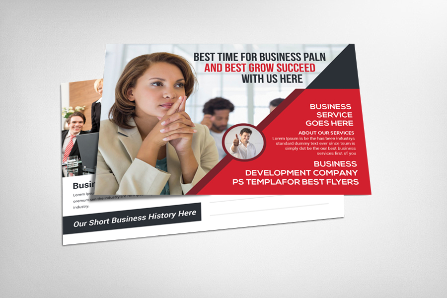 Corporate Business Postcard Template example image 3