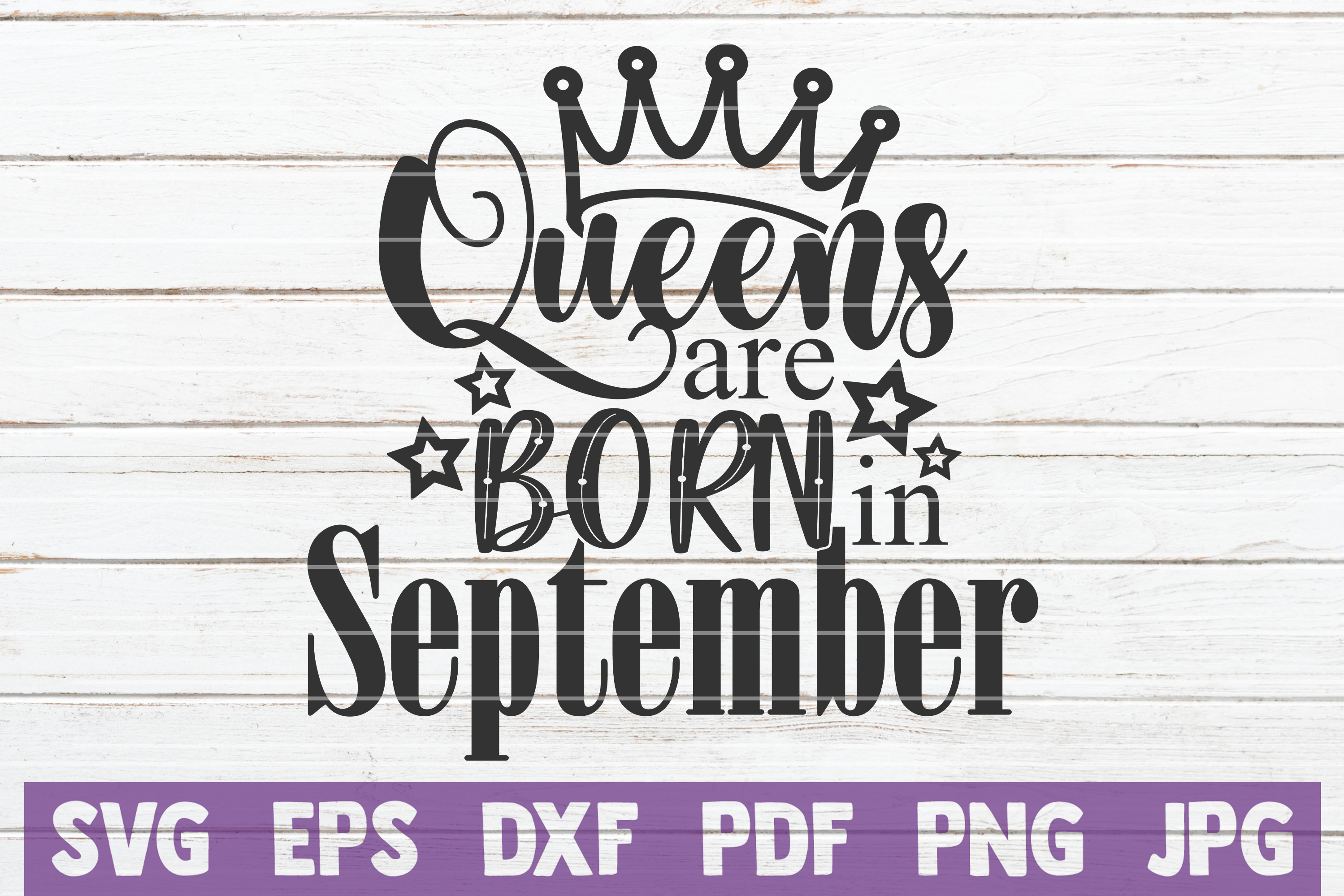 Queens Are Born In ... SVG Bundle | Birthday girl Cut Files example image 13