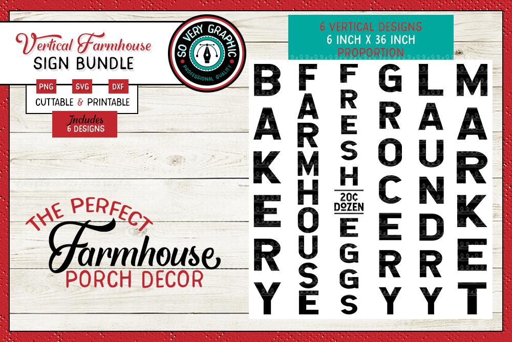 Vintage Farmhouse Sign Bundle | 22 Designs | SVG | PNG | DXF example image 2