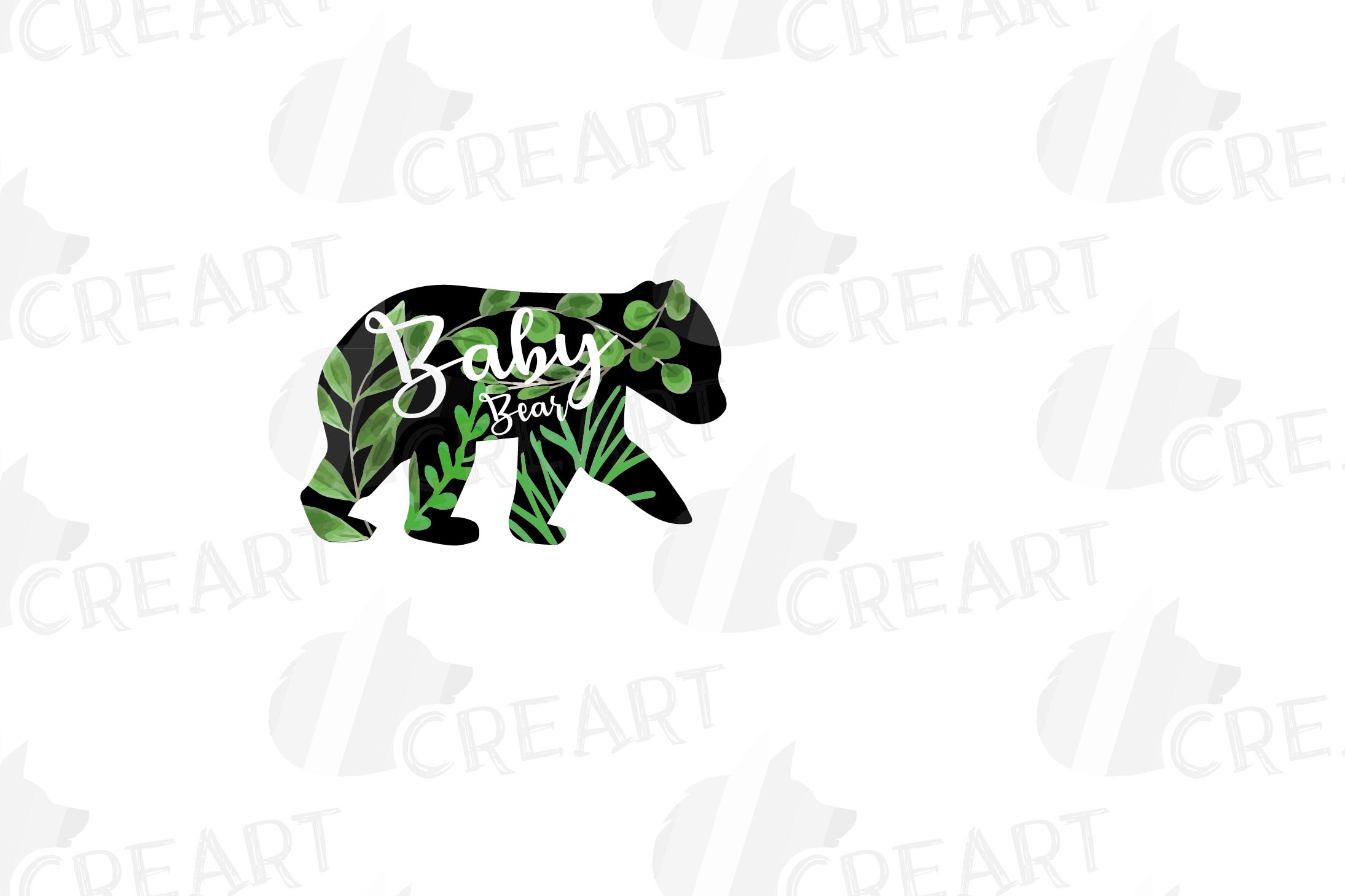 Floral bear family, sister, brother, baby, papa and mama example image 4