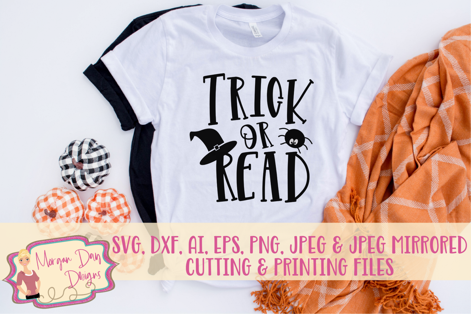 Trick or Read SVG, DXF, AI, EPS, PNG, JPEG example image 1