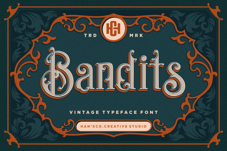 Bandits Vintage Font example image 1