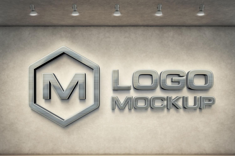 3D Logo Mock-up Bundle example image 2