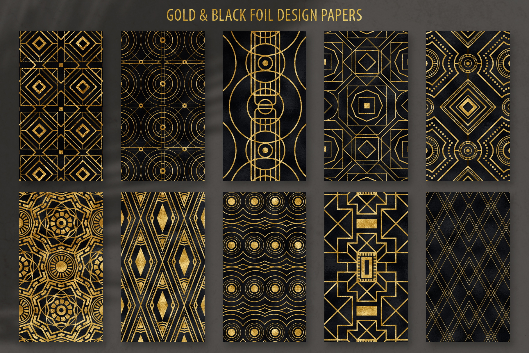 Geometric Art Deco Patterns - 20 Seamless Vector Patterns example image 19